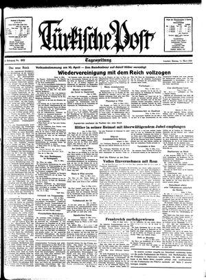 Türkische Post vom 14.03.1938