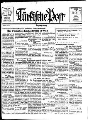Türkische Post vom 15.03.1938