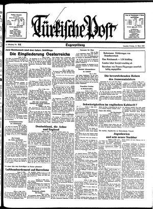 Türkische Post vom 18.03.1938