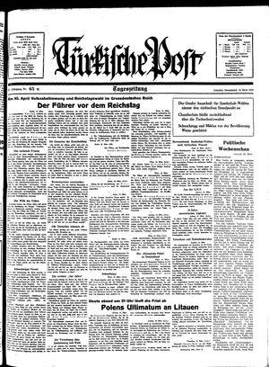 Türkische Post vom 19.03.1938