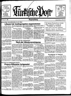 Türkische Post vom 21.03.1938