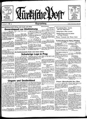 Türkische Post vom 24.03.1938