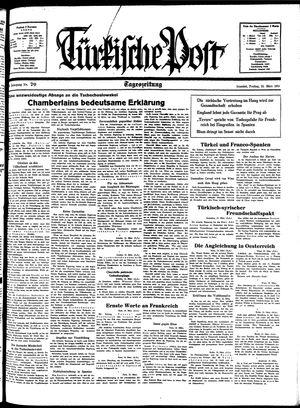 Türkische Post vom 25.03.1938