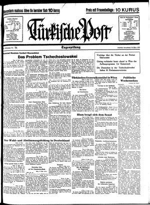 Türkische Post vom 26.03.1938