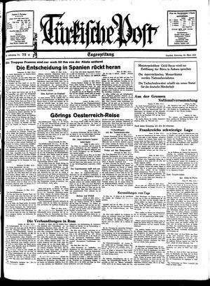 Türkische Post vom 29.03.1938