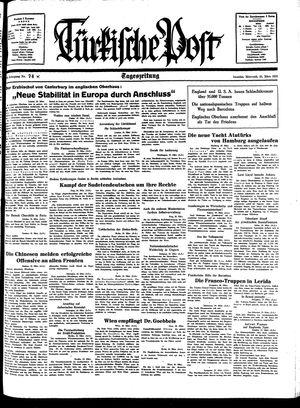Türkische Post vom 30.03.1938