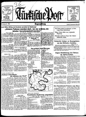 Türkische Post vom 31.03.1938