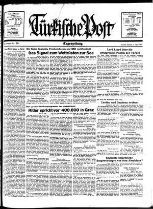 Türkische Post vom 04.04.1938