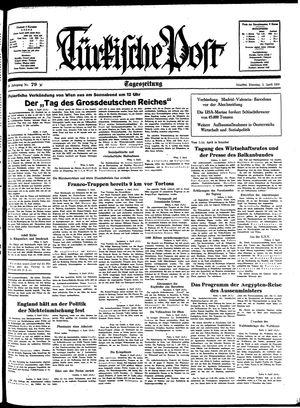 Türkische Post vom 05.04.1938
