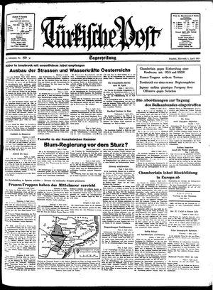 Türkische Post vom 06.04.1938