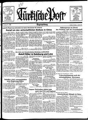 Türkische Post vom 08.04.1938