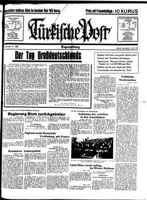 Türkische Post vom 09.04.1938