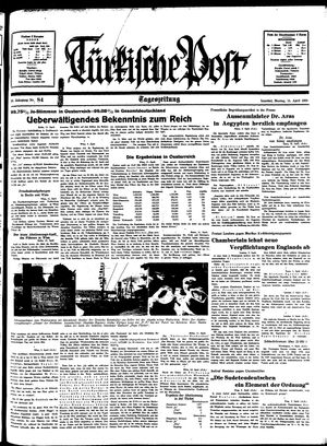 Türkische Post vom 11.04.1938