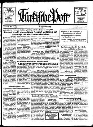 Türkische Post on Apr 14, 1938