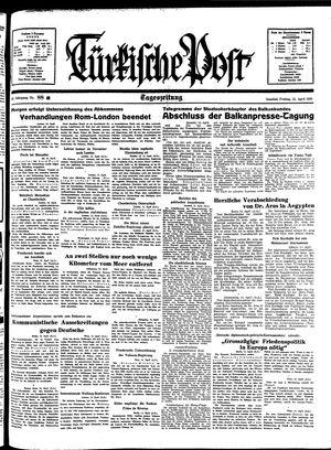 Türkische Post vom 15.04.1938