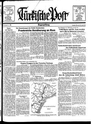 Türkische Post vom 20.04.1938