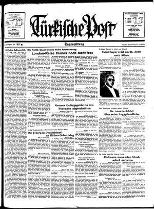 Türkische Post vom 21.04.1938