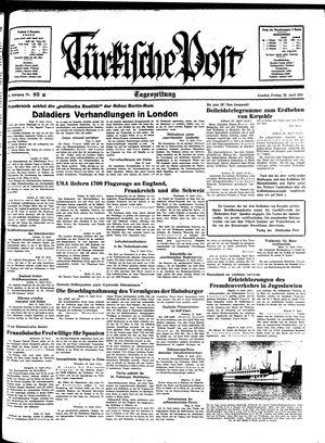 Türkische Post vom 22.04.1938