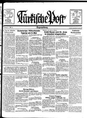 Türkische Post vom 23.04.1938