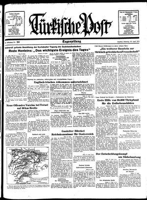Türkische Post vom 26.04.1938