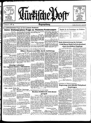 Türkische Post vom 27.04.1938