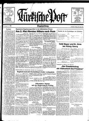 Türkische Post vom 29.04.1938
