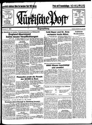 Türkische Post vom 30.04.1938
