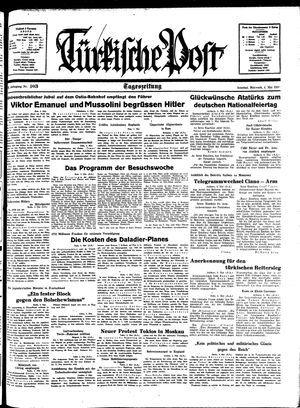 Türkische Post vom 04.05.1938