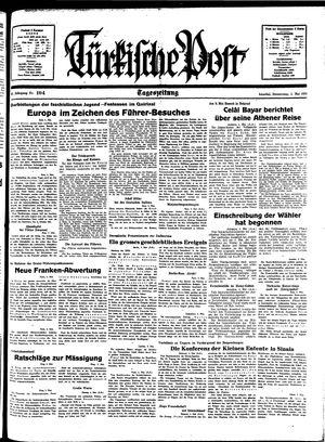 Türkische Post vom 05.05.1938