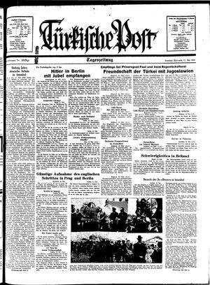 Türkische Post vom 11.05.1938