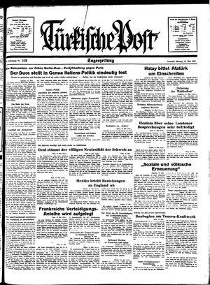 Türkische Post vom 16.05.1938