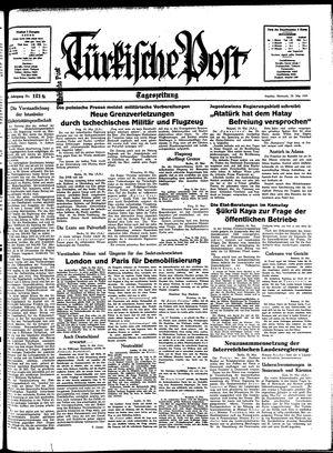 Türkische Post vom 25.05.1938