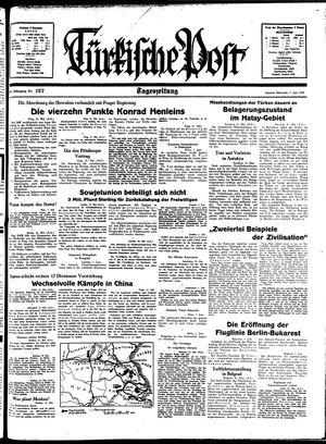 Türkische Post vom 01.06.1938