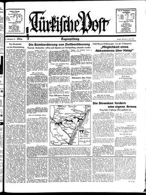 Türkische Post vom 08.06.1938