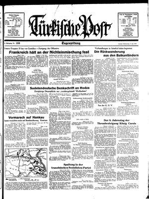 Türkische Post vom 09.06.1938