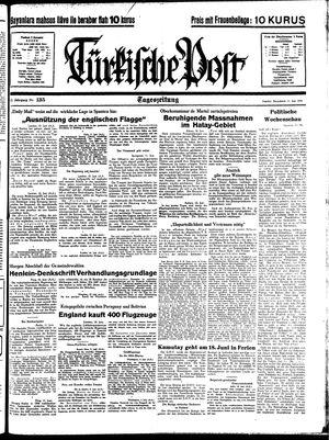 Türkische Post vom 11.06.1938