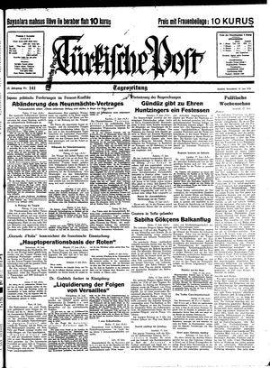 Türkische Post vom 18.06.1938