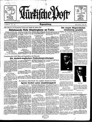 Türkische Post vom 02.01.1939