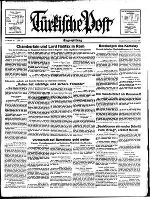 Türkische Post on Jan 12, 1939