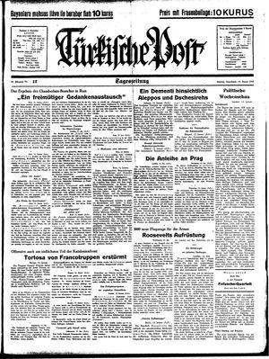 Türkische Post vom 14.01.1939