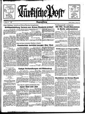 Türkische Post on Jan 17, 1939