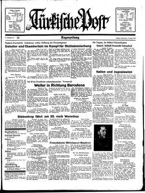 Türkische Post vom 19.01.1939