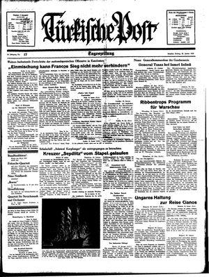 Türkische Post vom 20.01.1939