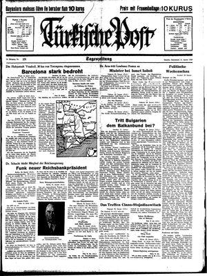 Türkische Post vom 21.01.1939