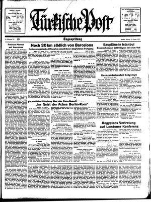 Türkische Post vom 23.01.1939