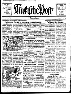 Türkische Post vom 24.01.1939