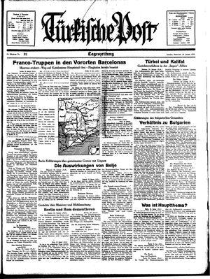 Türkische Post vom 25.01.1939