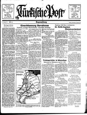 Türkische Post on Jan 26, 1939