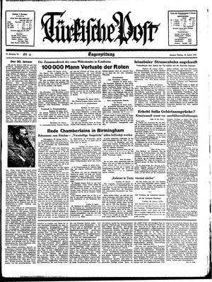 Türkische Post vom 30.01.1939