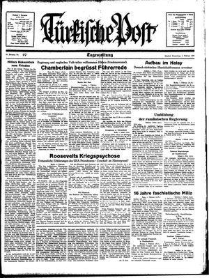 Türkische Post vom 02.02.1939